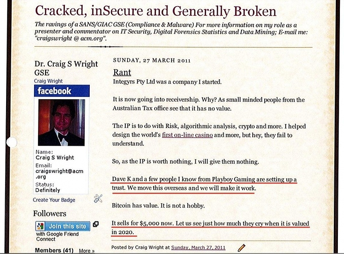 Kleiman vs Craig Wright